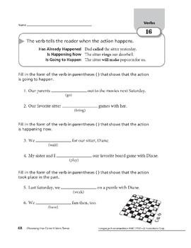Verbs 08: Choosing the Correct Verb Tense