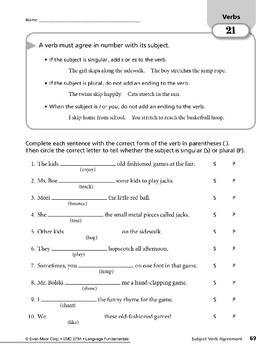 Verbs 09: Subject-Verb Agreement