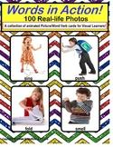 100 Real Life Picture Action Word Verb Cards | For Visual Learners and Autism