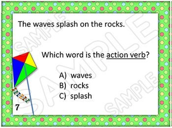 Literacy Activity with Verb Task Cards with Action Linking and Helping Verbs