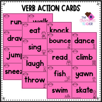Verbs With Activities, Printables, Verb Wheels, and More