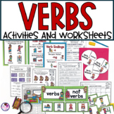 Action Verbs| Activities, Worksheets, and Scoot Game