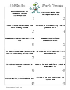 Verbs and the Shift in Verb Tense