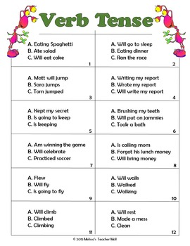 Verb Tense to Convey Sequence