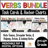 Verb Tenses Activities | Irregular Verbs | Helping, Action, Linking Verbs BUNDLE