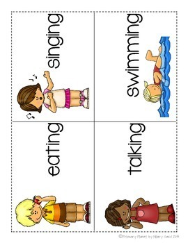 Verbs! Worksheets, centers, posters, and games!