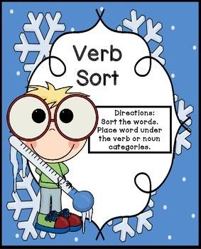 Verbs | Verbs Center | Winter Verbs | Verbs Activity