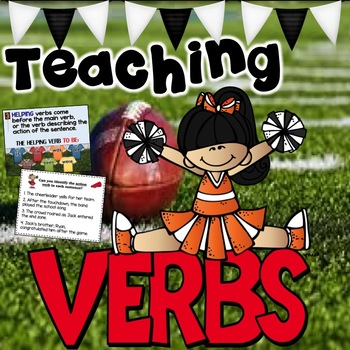 Teaching Action, Linking and Helping Verbs- Editable Powerpoint