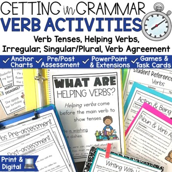 Verbs Tenses Posters and Activities