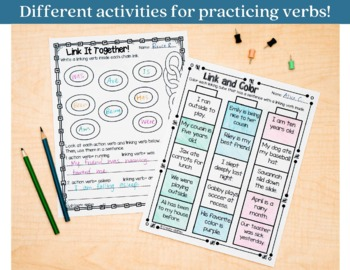 Verbs Printables and Interactive Notebook Templates