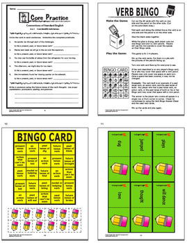 Verb Tenses Activities + COMPLETE Lesson, Poster, and FULL COLOR Game