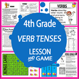 Verb Tenses Activities + Lesson, COLOR Poster & Game, Verb Tenses Worksheet
