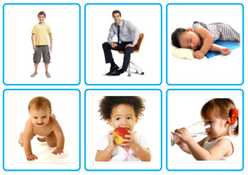 Photo Picture Cards *78 VERBS* 3 Formats 4 Speech Therapy Autism Sp Ed ESL