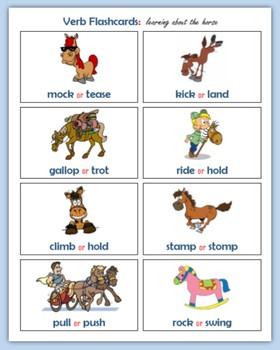 Verbs (80 Fluency Flashcards)