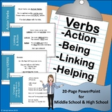 Verbs! Action-Being-Linking-Helping