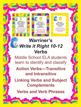 Verbs--Action; Linking; Verb Phrases: Warriner's Write it