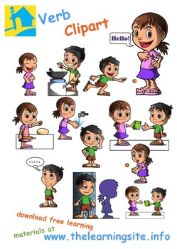 Verbs / Action Words Clip Art (2)