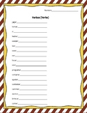 Verbs / Actions Practice Worksheets and Flash Cards Spanis