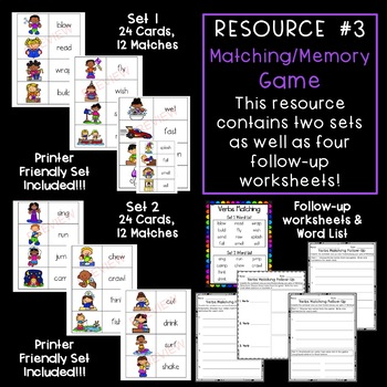 Verbs Activities & Games {BUNDLE!!!!}