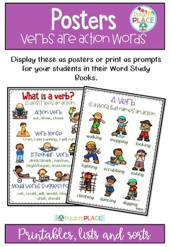 Verbs Activities and Worksheets
