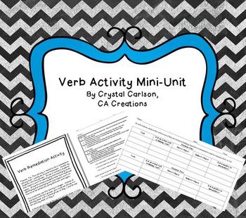 Verbs Activity Mini-Unit