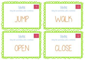 Verbs Activity Task Cards - BUNDLE