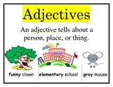 Verbs Adjectives Sentences Nouns  POSTER SET