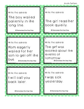 Print & Go Verbs & Adverbs Choice Board