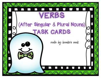 Verbs (After Singular and Plural Nouns) Task Cards