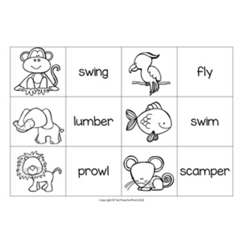Grammar Pack Verbs An Introduction Activity and Poster Set $1 DEAL