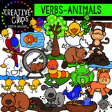 Verbs Clipart: Animal Actions {Creative Clips Digital Clipart}