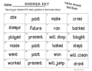 Verbs Around the Room
