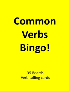 Common Verbs BINGO!