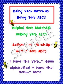 VERBS: Being Verb FREEBIE (activities, games, assessments, charts, more)