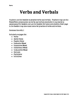 Verbs Booklet