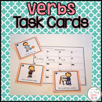 Verbs Task Cards and Boom Cards