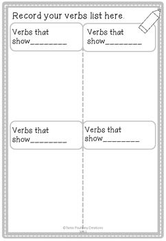 Verbs Category Sort