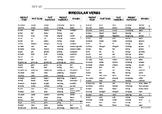 Bilingual Verbs Chart