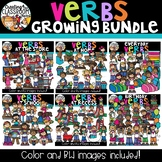 Verbs Clipart Growing Bundle (Verbs Clipart)