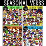 Verbs Clipart: Seasonal Bundle {Creative Clips Clipart}