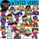 Verbs Clipart: Seasonal Bundle {Creative Clips Clipart}