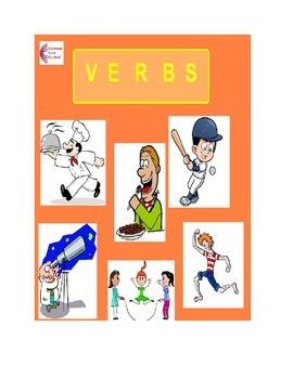 Verbs - Common Core ELA Language Worksheets L.1.1.E, L.2.1.D, L.K.1.B