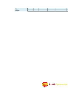 Verbs Conjugation Sheet