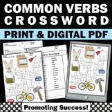 Verb Worksheets, Crossword Puzzle for ELA, ESL Grammar Practice