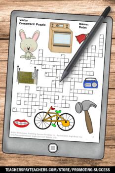 Verbs Crossword Puzzle, Grammar Review