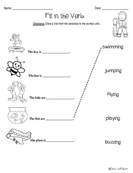 Verbs Differentiated Center Activities