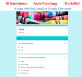 Verbs Parts of Speech Quiz - Digital Google Forms™ Assessm