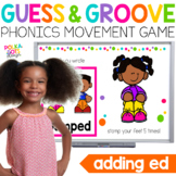 Verbs ED Ending Movement Game for Google (TM) and PowerPoint | Distance Learning