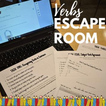Verbs Escape Room BUNDLE!!