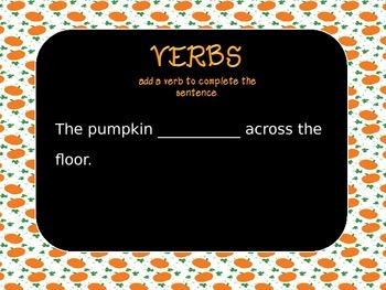 Verbs (Fall Themed)